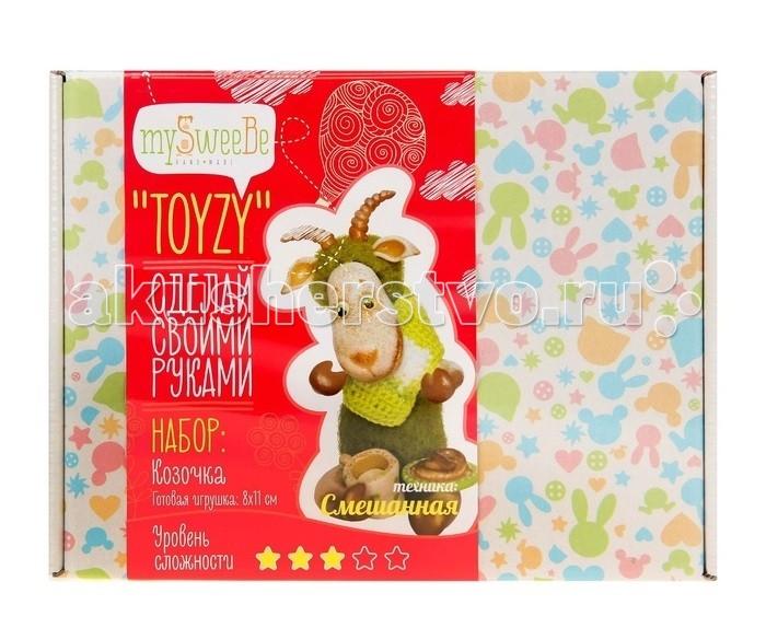 ToyzyKit Набор для вязания и валяния КозочкаНабор для вязания и валяния КозочкаToyzyKit Набор для вязания и валяния Козочка  Набор для рукоделия Козочка поможет сделать забавную игрушку из разноцветной шерсти своими руками при помощи смешения двух техник: валяние и вязание!  Работа с шерстью - это мягкое, теплое и уютное творчество.  Все материалы для изготовления игрушки являются 100% натуральными и качественными.  Состав набора: детальная инструкция и схема основные инструменты для рукоделия акриловая краска дополнительные элементы<br>
