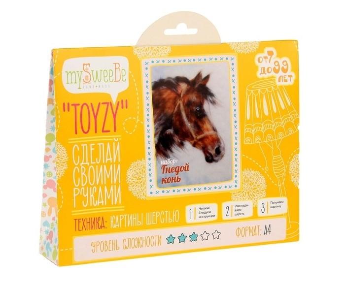ToyzyKit Картина шерстью Гнедой коньКартина шерстью Гнедой коньToyzyKit Картина шерстью Гнедой конь  Замечательный набор для рукоделия Картина шерстью станет отличным подарком для любого творческого ребенка.   С помощью детальной инструкции, схемы и материалов ребенок сможет создать своими руками потрясающую поделку. Готовая работа может стать достойным подарком или сувениром для друзей и близких.   Все материалы для изготовления игрушки являются 100% натуральными и качественными.  Состав набора: детальная инструкция порядок работы шерсть пинцет подложка (А4) дополнительные элементы  Технику создания картины шерстью иногда называют шерстяной акварелью, поскольку для ее создания используются сваленная разноцветная шерсть, а получившийся результат имеет определенное сходство с картиной, нарисованной акварелью. В то же время картина шерстью имеет существенное преимущество: ошибки при работе легко исправить, для этого достаточно удалить неудачный слой и положить его вновь. В случае с акварелью исправить художественные неточности будет гораздо сложнее. Создание картины шерстью - это творческий процесс, который разгружает нервную систему, развивает воображение, творческий потенциал.<br>
