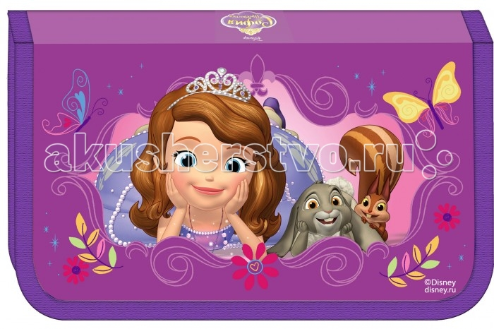 Disney Пенал одно-секционный София