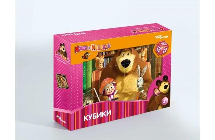 Step Puzzle Кубики Маша и Медведь 12 шт.