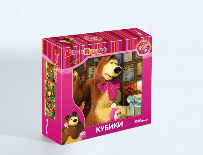 Step Puzzle Кубики Маша и Медведь 9 шт от Акушерство