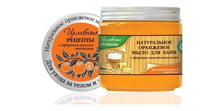 Целебные рецепты Натуральное мыло для бани Оранжевое 500 мл