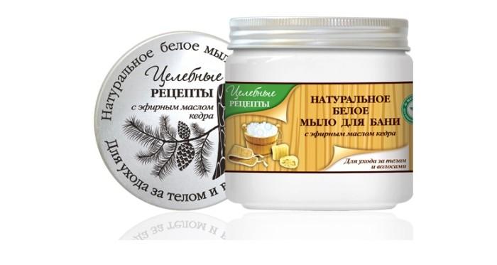 Целебные рецепты Натуральное мыло для бани Белое 500 мл