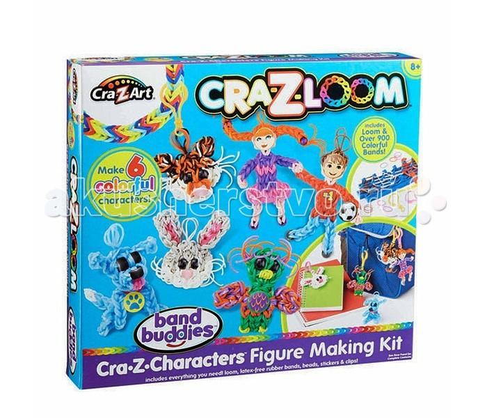 Cra-Z-Loom Набор для творчества с резиночками для плетенияНабор для творчества с резиночками для плетенияCra-Z-Loom Набор для творчества с резиночками для плетения  Новый вид детского творчества – плетение разнообразных изделий из разноцветных резиночек, становится все популярнее, и дети с удовольствием создают своими руками красивые аксессуары из них. Например, в этом наборе предусмотрен не только сам исходный материал, но и специальный станок, овладев которым юные мастерицы смогут плести затейливые узоры и тренировать при этом моторику своих рук.  Особенности: Этот набор позволит детям проявить свои творческие способности и создать своими руками разнообразные аксессуары из разноцветных резиночек. Подробная инструкция подскажет ребёнку порядок действий и познакомит его с особенностями плетения на станке из комплекта. Из резиночек можно в итоге получить разнообразные фигурки или красивые украшения в виде браслетиков или брелоков. Каждый аксессуар дополняется карабином, благодаря которому его можно закреплять на любимую сумку или другие предметы. Резиночки выполнены из эластичного и прочного материла, который не деформируется и сохраняет свою форму. Плетение будет способствовать улучшению мелкой моторики рук ребенка, а также поможет разнообразить его досуг. Фурнитура из набора окрашена яркими насыщенными красителями, которые не выгорают на солнце и не истираются со временем.  В комплекте: резиночки (900 шт.), станок, карабины, бусинки, наклейки, инструкция.<br>