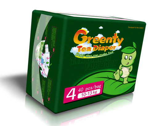 Greenty Подгузники 4 (10-14 кг) 40 шт.