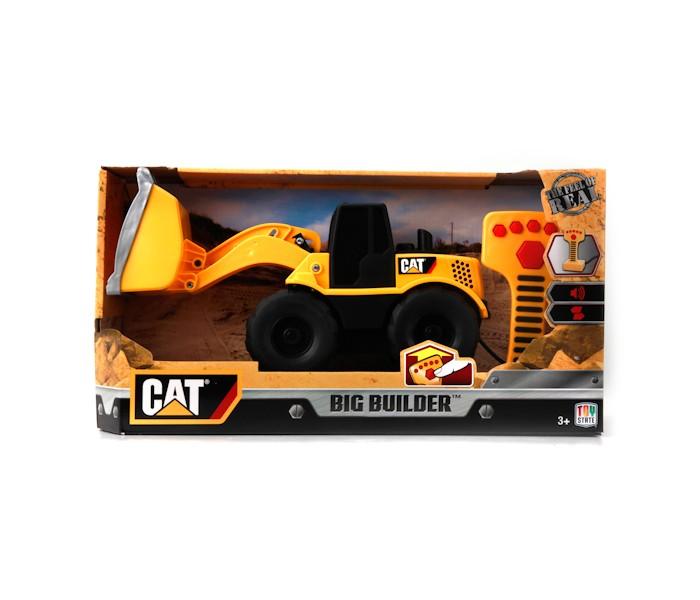 Toystate Экскаватор 36623Экскаватор 36623Toystate Строительная техника cat Экскаватор 22.5 см, на пульте, звуковые эффекты в коробке 12 шт.<br>