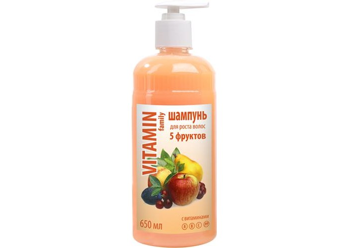 Vitamin Шампунь 5 фруктов 650 мл