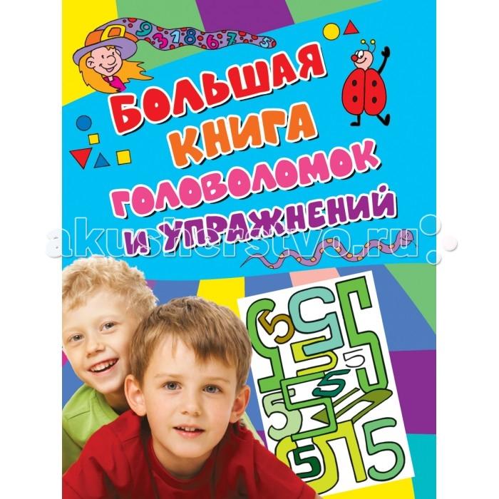 Росмэн Большая книга головоломок и упражнений Активити голубая