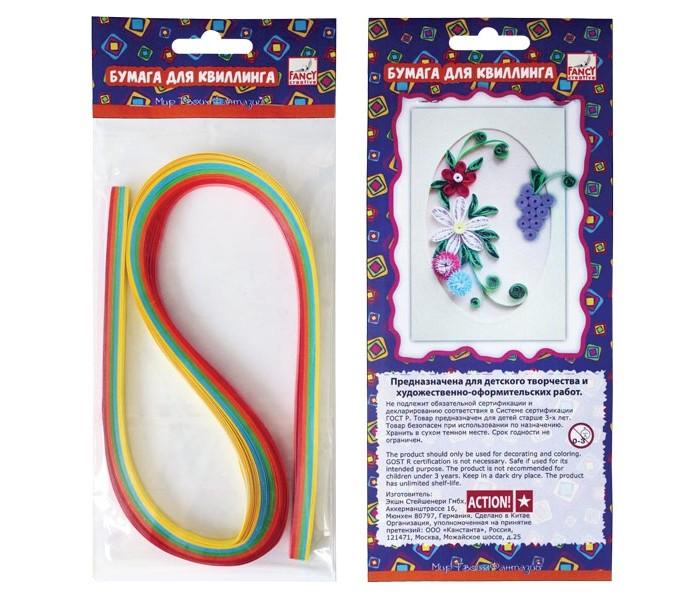 Fancy Creative Набор цветной бумаги для квиллинга Радуга (3 мм) 5 цв.