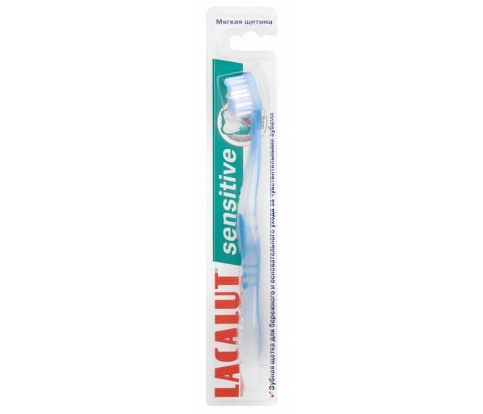Lacalut Зубная щетка SensitiveЗубная щетка SensitiveЗубная щетка Lacalut Sensitive - для чувствительных зубов.  Когда мы говорим о чувствительной эмали, зубная щетка сразу выходит на первый план. К зубам, остро реагирующим на каждое прикосновение, требуется особое отношение. Именно для них в Германии специалистами Lacalut разработана щетка с уникальной щетиной.  Рекомендуется для чувствительных зубов, имеет очень мягкие, закругленные щетинки. Щетка обеспечивает деликатное и качественное удаление налета без причинения неприятных ощущений благодаря тонким округленным щетинкам Supersoft. Эти щетинки и позволяют зубной щетке Lacalut sensitive стать настоящим спасением для чувствительной эмали.  Цвета в ассортименте.<br>