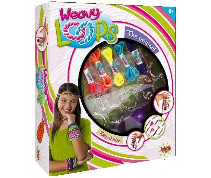 Splash Toys Набор для плетения брелочковНабор для плетения брелочковНабор для плетения брелочков Картонная коробка с окошком из прозрачного пластика.  Содержит несколько моточков шнурков и металлические подвески.<br>