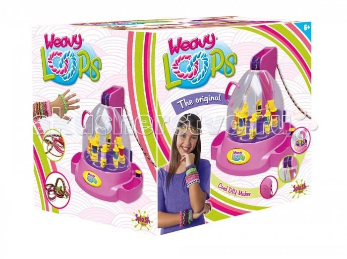 Splash Toys Машинка для плетения браслетовМашинка для плетения браслетовМашинка для плетения браслетов. Приспособление из пластика, которое позволяет из нескольких тонких ниток сплести шнур, который будет использоваться в создании украшений: браслетов, ободков, брелков, и т.д.  Необходимы батарейки 3АА /LR6. В комплект не входят.<br>