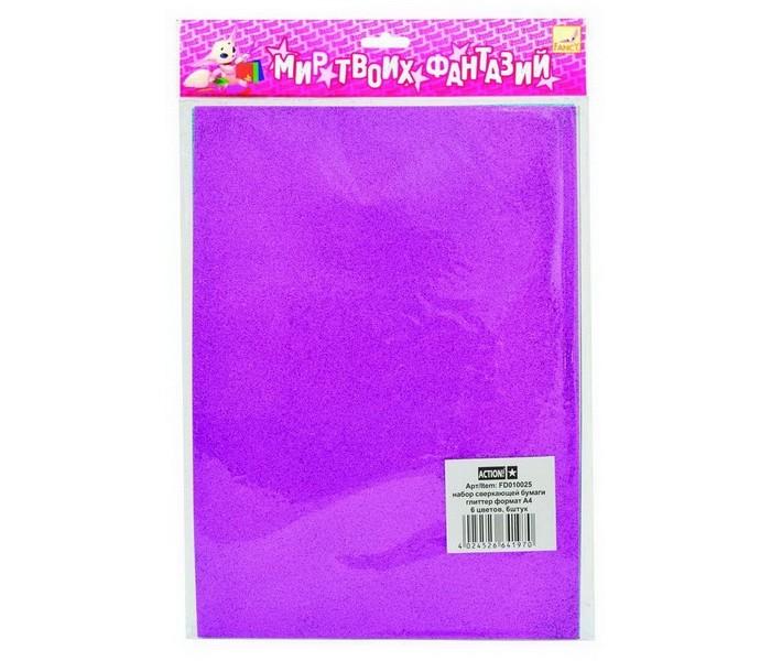Fancy Creative Набор цветной сверкающей бумаги А4 6 цв. 6 лНабор цветной сверкающей бумаги А4 6 цв. 6 лFancy Creative Набор цветной сверкающей бумаги А4 6 цв. 6 л  Сверкающая цветная бумага.   Односторонняя, плотная  Поверхность из сверкающей крошки Оригинальные красивые цвета Прекрасно подходит для новогодних поделок: масок, открыток, украшений Детали из сверкающей бумаги эффектно смотрятся на аппликациях, страницах альбомов, оформленных в технике скрапбукинг Поделки из сверкающей бумаги имеют волшебный сказочный вид.   Формат: А4.  В наборе: 6 листов, 6 цветов (черный, серебряный, зеленый, голубой, фуксия, сиреневый).<br>