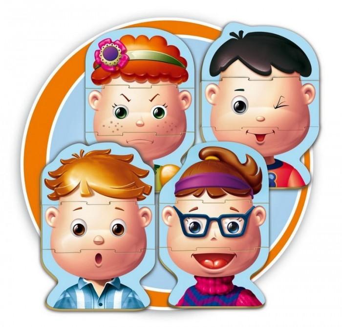 Educa Игра-пазл ЛицаИгра-пазл ЛицаИгра-пазл Лица   Создай новое лицо, меняя рот, глаза и волосы! Игра-пазл Лица обязательно привлечет внимание вашего малыша и поднимет настроение жизнерадостными образами!   Коллекция Baby Educa стимулирует внимательность, развивает психомотрику, любопытство и воображение. Ребенок сможет создавать каждый раз все новые лица, меняя рот, глаза и волосы.  Состав: 4 пазла из 3 элементов. Комплект включает в себя 12 элементов, с помощью которых ребенок сможет собрать четыре картинки в виде детских лиц.  Благодаря прочному материалу детали пазлов легко крепятся между собой, а крупный размер деталей будет удобен для маленьких ручек малыша.  Игра-пазл Лица поможет ребенку в развитии логического мышления, воображения, памяти и мелкой моторики рук.<br>