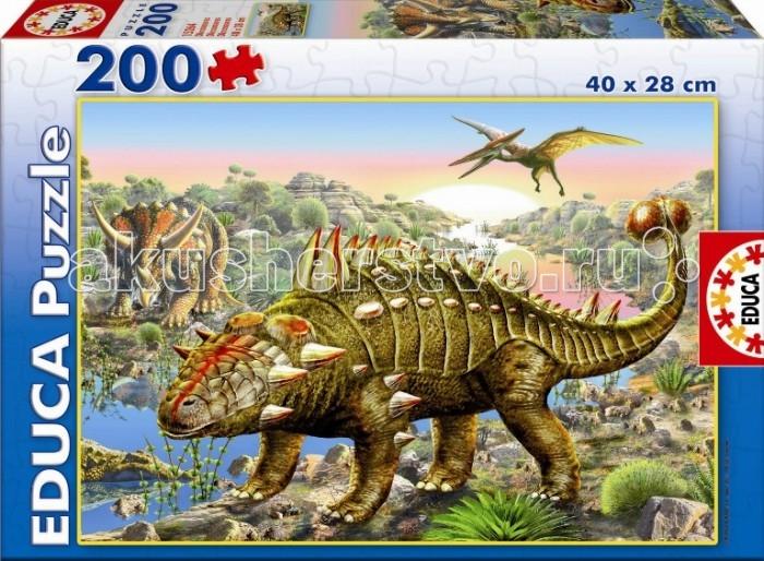 Educa Пазл Динозавры 200 деталейПазл Динозавры 200 деталейПазл 200 деталей Динозавры.  Размер собранной картинки: 40х28 см Игра способствует развитию мелкой моторики, логики, мышлению, концентрации внимания, усидчивости ребенка.<br>