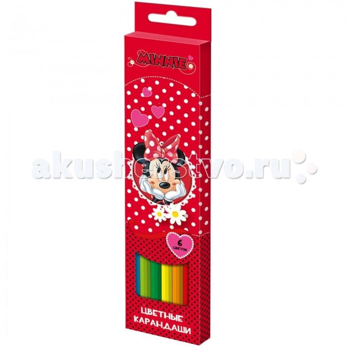 Disney Цветные карандаши Минни 6 цветов