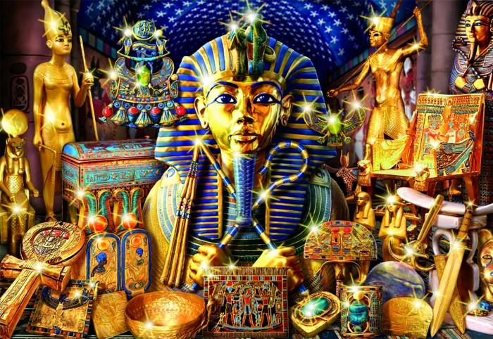 Educa Пазл Сокровища Египта 1000 деталейПазл Сокровища Египта 1000 деталейПазл Сокровища Египта состоит из 1000 деталей.  Размер собранной картинки: 68*48 см.  Правила игры: вскрыть упаковку и собрать игру по картинке.  Не давать детям до 3-х лет из-за наличия мелких деталей.  В комплект входит сухой клей.<br>