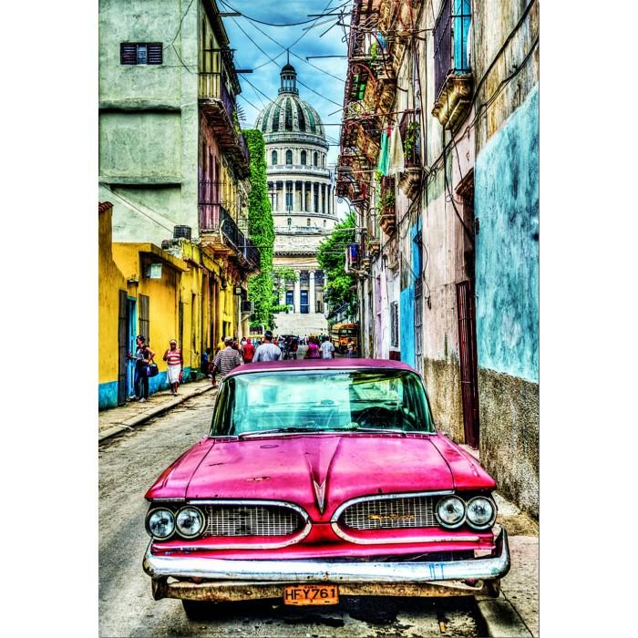 Educa Пазл Винтажное авто в старой Гаване 1000 деталей