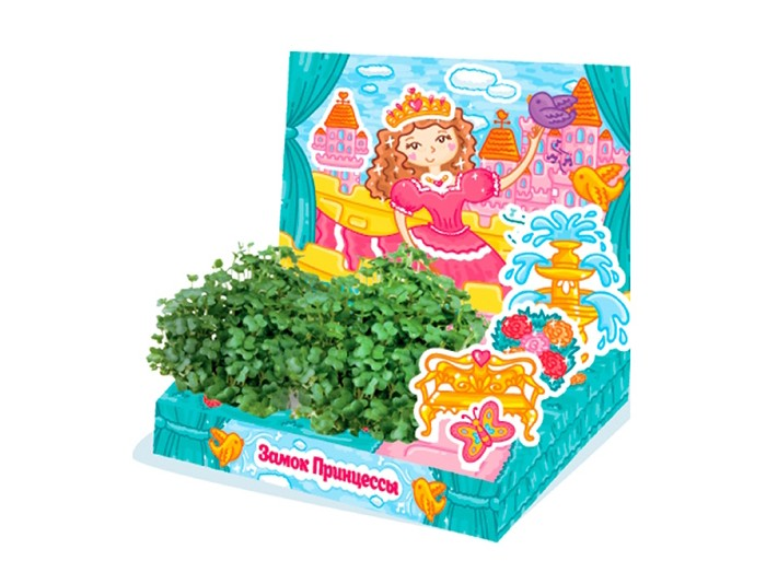 Happy Plant Детский набор для выращивания Замок принцессыДетский набор для выращивания Замок принцессыHappy Plant Детский развивающий набор для выращивания Замок принцессы.  Живая открытка Замок принцессы - необычный подарок для мальчика. Он сможет вырастить маленький садик и поиграть с картонными фигурками машинок. В процессе развивается мелкая моторика и усидчивость, ведь чтобы появились растения, нужно следовать инструкции!  Happy Plant - производитель органических удобрений и наборов для выращивания. В наборах нет ни капли химии, все семена проходят проверку на всхожесть. Гарантия качества и экологической чистоты от российского производителя!   В комплекте: объемная открытка 3 картонные фигурки наклейки  емкость для посадки растений,  агроткань для выращивания растений семена базилика инструкция по посадке и уходу.<br>