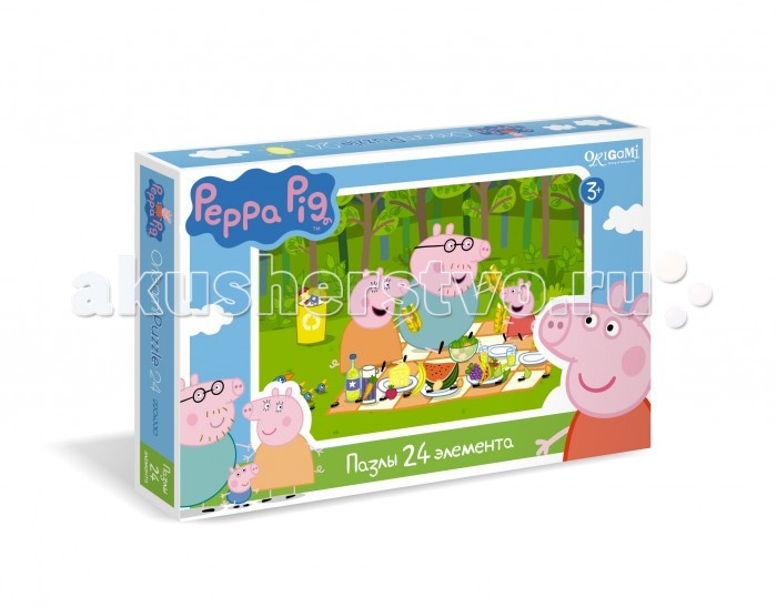 Origami Peppa Pig Пазл 01571 (24 элемента)