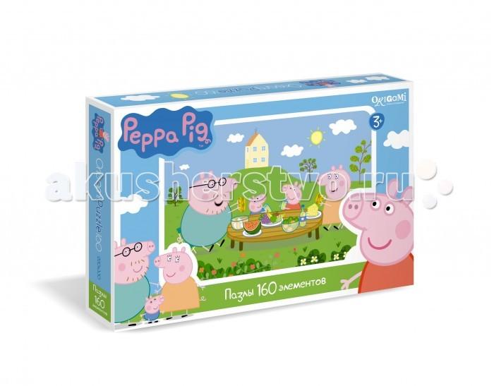 Origami Peppa Pig Пазл 01542 (160 элементов)Peppa Pig Пазл 01542 (160 элементов)Origami Peppa Pig Пазл 01542 (160 элементов). Пазл Peppa Pig на 1604 деталей. Пазл за пазлом ребёнок будет узнавать о весёлых приключениях Свинки Пеппы.   Составление пазла станет развивающим досугом для малыша, т.к. тренирует пространственное мышление, моторику рук, а так же подарит хорошее настроение.<br>