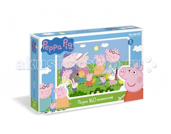 Origami Peppa Pig Пазл 01543 (160 элементов)Peppa Pig Пазл 01543 (160 элементов)Origami Peppa Pig Пазл 01543 (160 элементов). Пазл Peppa Pig на 1604 деталей. Пазл за пазлом ребёнок будет узнавать о весёлых приключениях Свинки Пеппы.   Составление пазла станет развивающим досугом для малыша, т.к. тренирует пространственное мышление, моторику рук, а так же подарит хорошее настроение.<br>