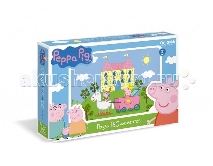Origami Peppa Pig Пазл 01544 (160 элементов)Peppa Pig Пазл 01544 (160 элементов)Origami Peppa Pig Пазл 01544 (160 элементов). Пазл Peppa Pig на 1604 деталей. Пазл за пазлом ребёнок будет узнавать о весёлых приключениях Свинки Пеппы.   Составление пазла станет развивающим досугом для малыша, т.к. тренирует пространственное мышление, моторику рук, а так же подарит хорошее настроение.<br>