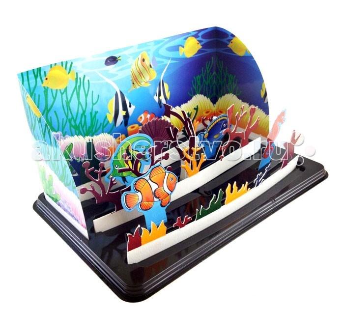 Волшебные кристаллы набор Волшебный аквариумнабор Волшебный аквариумВолшебные кристаллы Большой подарочный набор Волшебный аквариум.   Большой подарочный набор поможет ребенку почувствовать себя настоящим исследователем морских глубин. Множество персонажей и красивые иллюстрации перенесут его в подводный мир, полный морских чудес.   Как создать подводный мир Установите на поддон картонную основу. Согните края картонной основы у установите её на поддон в специальную прорезь. Возьмите фигурки кораллов и вставьте их в основу крест на крест, установите получившуюся конструкцию в соответствующие прорези Вставьте фигурки морских жителей в оставшиеся прорези Отрежьте уголки пакетиков и вылейте их в прорези указанные в инструкции. Через 10 часов аквариум наполнится жизнью. Кораллы покроются разноцветными кристаллами Законченную работу для предохранения от выцветания и предотвращения нежелательных последствий при контакте с кожей рекомендуется покрыть лаком. В набор входит: Пластиковая подставка 3 длинные картонные полоски и 4 составные части 4 картонных морских жителя Картонная основа для заднего фона Картонная часть для поддона 4 пакетика со специальным раствором для роста кристаллов. Компоненты набора полностью безопасны для занятий под присмотром взрослых или самостоятельных занятий детей старше 12 лет.<br>