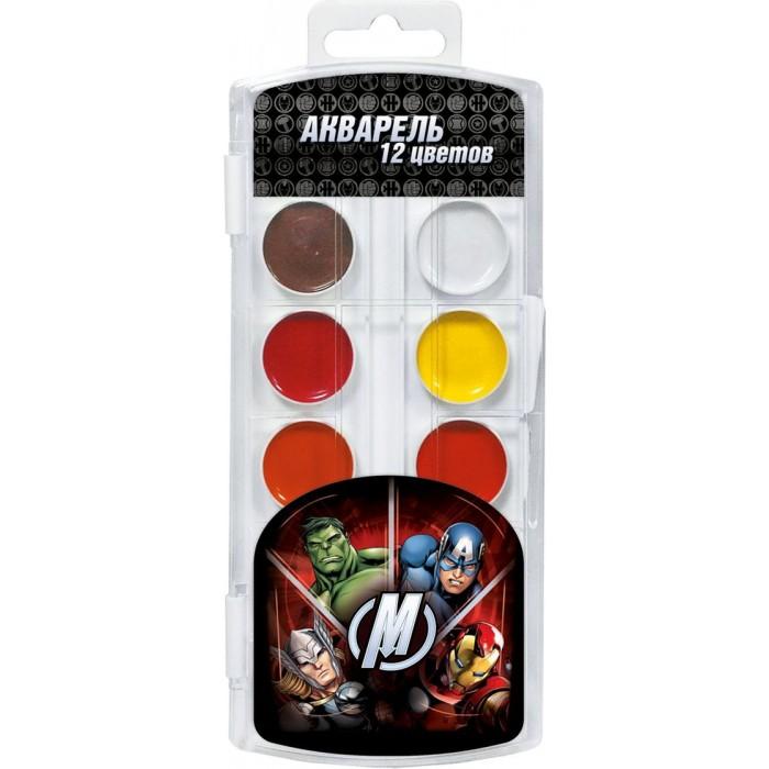 Marvel Акварель 12 цветов Мстители