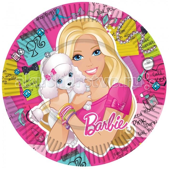 Olala Тарелка бумажная Куколка Barbie 23 см 10 штук
