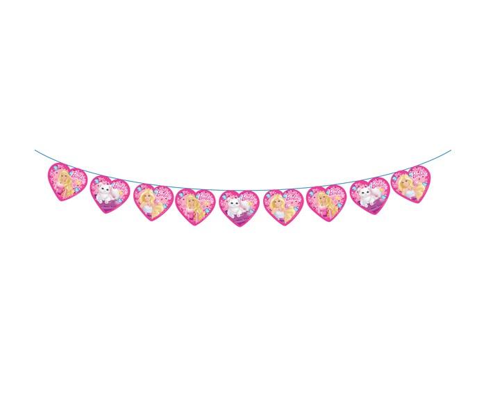 Olala Гирлянда-флажки БарбиГирлянда-флажки БарбиГирлянда-флажки Барби поможет оформить помещение ко Дню Рождения малыша. Гирлянда имеет длину 3 м, высота флажков 18 см. Способ крепления – лента.<br>