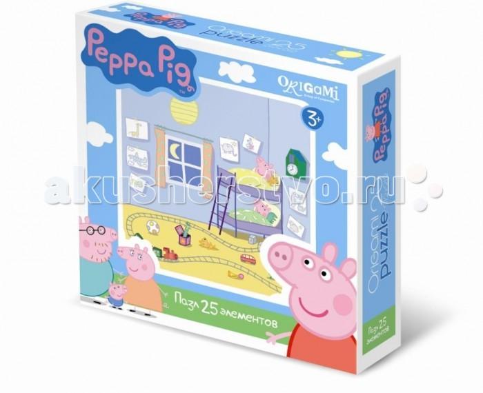 Origami Peppa Pig Пазл 01582 (25 элементов)