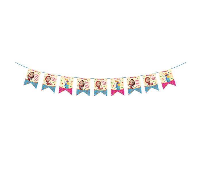 Olala Гирлянда-флажки Машины сказкиГирлянда-флажки Машины сказкиГирлянда-флажки Машины сказки поможет оформить помещение ко Дню Рождения малыша. Гирлянда имеет длину 3 м, высота флажков 18 см. Способ крепления – лента.<br>