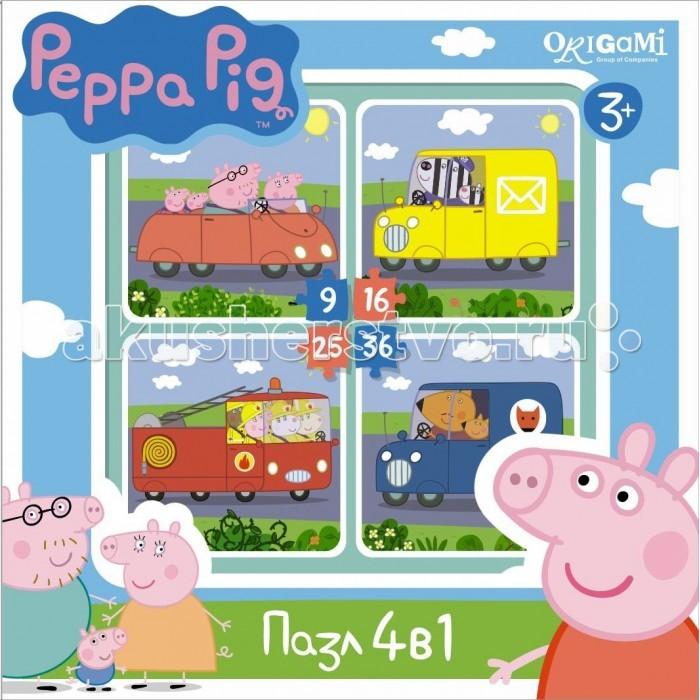 Origami Peppa Pig Пазл 4 в 1 Транспорт (9-16-25-36 элементов)Peppa Pig Пазл 4 в 1 Транспорт (9-16-25-36 элементов)Origami Peppa Pig Пазл 4 в 1 Транспорт (9-16-25-36 элементов). Пазл Peppa Pig 4 в 1 (на 9, 16, 25, 36 деталей). Пазл сделан специально для маленьких детей.   Начинайте сборку с пазла на 9 элементов, постепенно усложняя задачу до 25 элементов. Ребенок шаг за шагов будет тренировать пространственное мышление, моторику рук.<br>