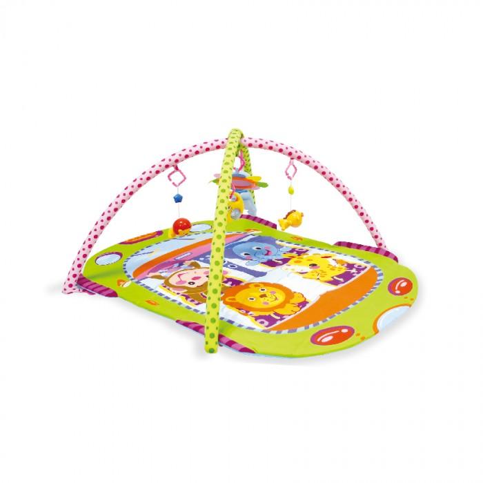 Развивающий коврик Bertoni (Lorelli) АвтобусАвтобусКонструкция легко собирается и переносится. Очень комфортный, яркий и красочный.   Яркий развивающий коврик  Выполнен из разных по фактуре материалов В комплекте имеется две дуги, на которые крепятся 4 разных по структуре игрушки и 1 мягкая с небьющимся зеркальцем Игрушки крепятся на дуги с помощью колец, благодаря чему их можно спокойно снимать и использовать как отдельные игрушки Обе дуги также съёмные, поэтому коврик можно легко складывать и транспортировать Развивает тактильное, звуковое и цветовое восприятия, координацию движений и мелкую моторику рук с самого рождения Материал: текстиль  Упаковка - прозрачная пластиковая сумочка с ручкой.  Размеры: 108х77 см.<br>