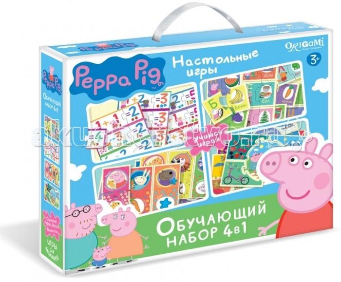 Origami Peppa Pig Обучающий набор 4 в 1 Азбука Считалочка Времена года Прятки