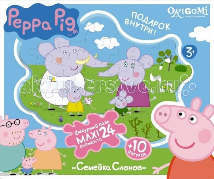 Origami Peppa Pig Пазл Супер макси Семья слонов (24 элемента)