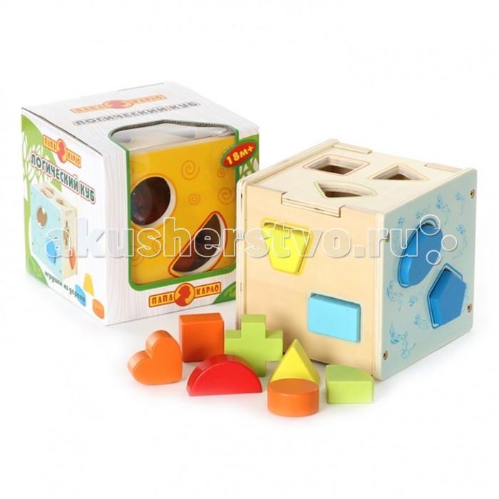 Деревянная игрушка Папа Карло Логический куб