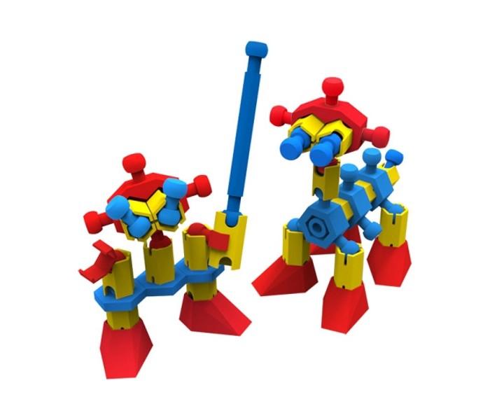 Конструктор Биплант Бинар Бибот 50 деталейБинар Бибот 50 деталейКонструктор Биплант Бинар Бибот 50 деталей 11074   Из динамического конструктора Бинар Бибот можно собрать 3D-фигурки забавных роботов, пришельцев или животных. Фантазируй, создавай своих уникальных героев и играй с ними!  Особенности: - 50 элементов деталей - оригинальный принцип соединения - из элементов конструктора предлагается собрать забавного робота с мечом и его четвероногого друга - благодаря подвижным соединениям с моделями интересней играть - детали крепятся легко и надежно - развивает логику, воображение, моторику - можно собирать по предложенным схемам или придумать свои варианты<br>