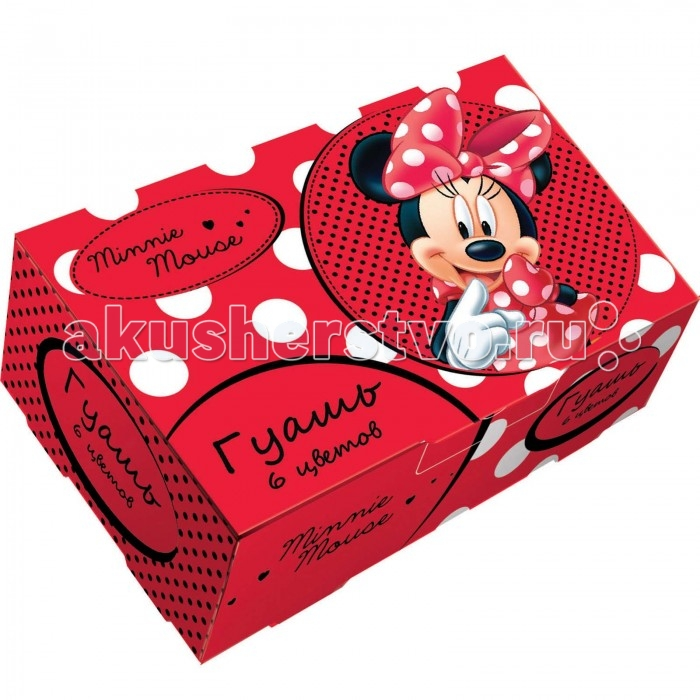 Disney Гуашь 6 цветов Минни