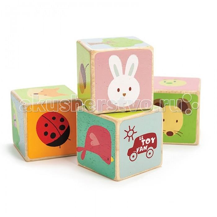 Деревянная игрушка LeToyVan Кубики Животный мир 4 штукиКубики Животный мир 4 штукиКубики деревянные Животный мир.  Набор деревянных кубиков для самых маленьких.   Ребенок знакомится с обитателями живой природы благодаря большим и забавным рисункам.   Размер кубика 60х60х60 см<br>