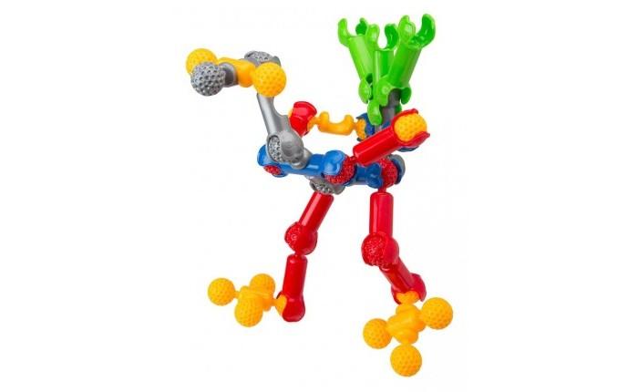 Конструктор Zoob 35 элементов35 элементовКонструктор Zoob 35 элементов 11035   Zoob 35 элементов - подвижный многовариантный конструктор, завоевавший внимание детей и их родителей во всем мире.Набор Zoob 35 включает 35 деталей, и инструкцию для создания различных моделей - собачки, самолетика, динозаврика, человека, бабочки, геометрических фигурок, абстрактных форм и других поделок.  Конструктор Zoob состоит из 5 основных элементов разных цветов, соединяющихся между собой более чем 20 различными способами. Юный изобретатель может сначала посмотреть пошаговые схемы, описанные в инструкции, а затем позвать на помощь свою фантазию и создать абсолютно новые конструкции.<br>
