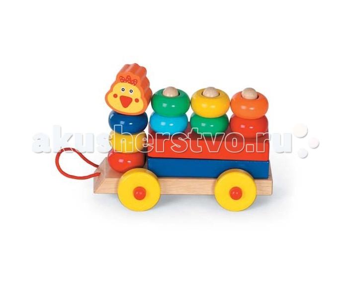 Каталка-игрушка Папа Карло Каталка Паровозик