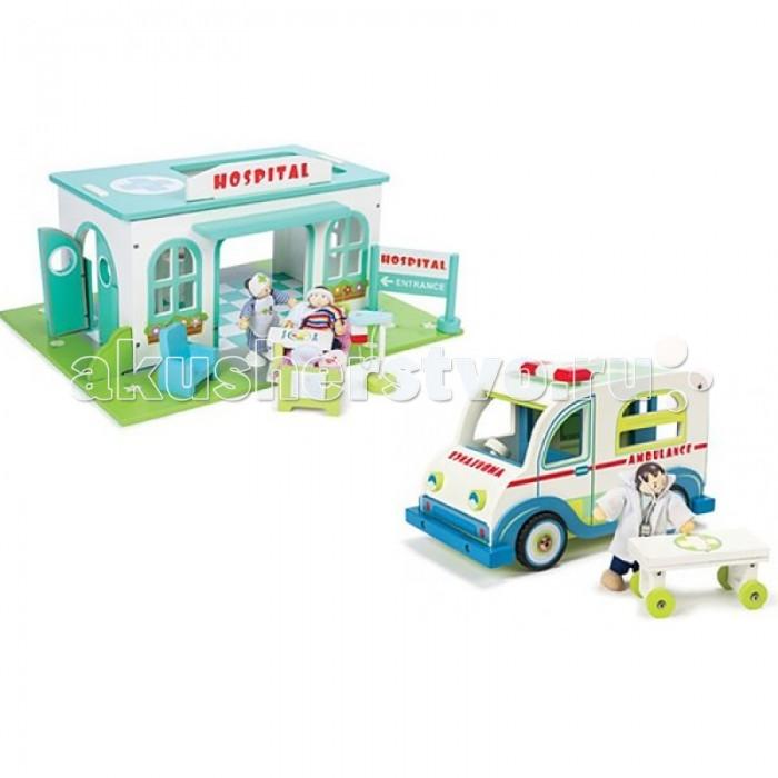 LeToyVan Набор Больница со скорой помощью и персонажами
