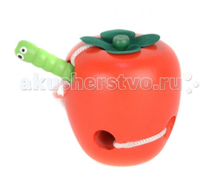 Деревянная игрушка Папа Карло Шнуровка Яблоко