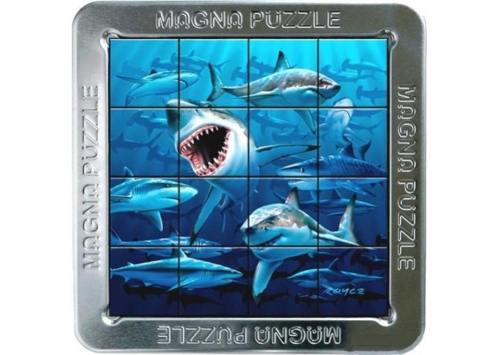 Magna 3D пазл Акулы3D пазл АкулыMagna 3D пазл Акулы.  Magna Puzzle - это магнитный пазл с трехмерным эффектом. Картинка на деталях меняется в зависимости от угла, под которым вы на нее смотрите. Ваша задача - соединить детали в правильном порядке и получить целостное изображение.  Красивый пазл с изображением хищных акул имеет одну отличительную особенность в виде объемного изображения. Это добавляет сложность во время сборки, но очень сильно затягивает в это увлекательное занятие. Пазл удобно собирается на крышке коробки, для сборки есть специальная выемка. На каждой части пазла имеется магнит, который без проблем притягивается в крышке от пазла для более удобной сборки.<br>