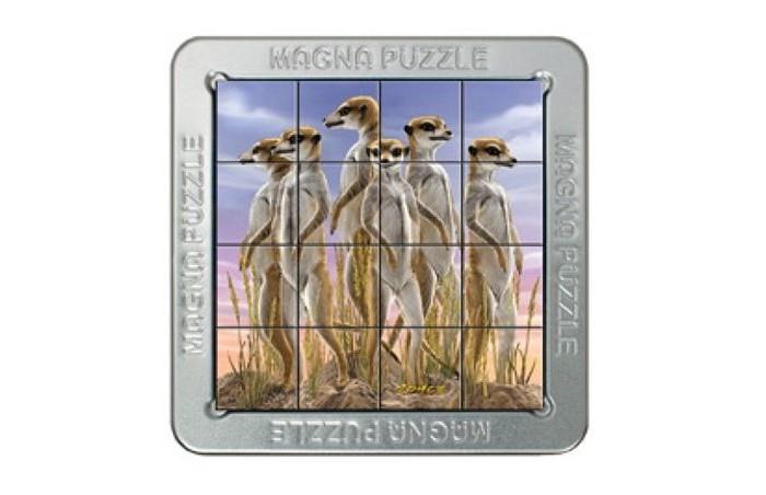 Magna 3D пазл Сурикаты3D пазл СурикатыMagna 3D пазл Сурикаты.  Magna Puzzle - это магнитный пазл с трехмерным эффектом. Картинка на деталях меняется в зависимости от угла, под которым вы на нее смотрите. Ваша задача - соединить детали в правильном порядке и получить целостное изображение.  Пазл с трехмерным эффектом. Картинка на деталях меняется в зависимости от угла, под которым вы на нее смотрите. Соединить детали в правильном порядке и получить целостное изображение. Крышка является полем для сборки, а в металлическую коробочку будет удобно складывать детали, и ни одна из них не потеряется!<br>
