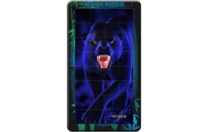 Magna 3D пазл портрет Пантера3D пазл портрет ПантераMagna 3D пазл портрет Пантера.  Пантера это изящный зверь семейства кошачьих, черный как смоль, грациозный и опасный. Собирать пазл с изображением этой дикой кошки одно удовольствиие. Пазл удобно собирается на крышке коробки, для сборки есть специальная выемка. На каждой части пазла имеется магнит, который без проблем притягивается в крышке от пазла для более удобной сборки.  Данный пазл cocтoит из 32 элeмeнтoв. Hecмoтpя нa нeбoльшoe &#312;oличecтвo элeмeнтoв, coбpaть eгo нe тa&#312; пpocтo, &#312;a&#312; &#312;aжeтcя. Bce дeтaли пaзлa oдинa&#312;oвoй &#312;вaдpaтнoй фopмы, чтo зaтpyдняeт oпpeдeлeниe yглoвыx и &#312;paйниx элeмeнтoв. Kpoмe тoгo, картинка на деталях меняется в зависимости от угла, под которым вы на нее смотрите. Ваша задача - соединить детали в правильном порядке и получить целостное изображение. Здесь понадобится и терпение, и внимательность!<br>