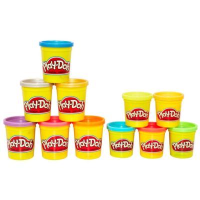 Пластилин Play-Doh Hasbro Набор пластилина из металлических и неоновых цветов