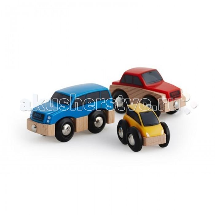 Brio Набор деревянных машинок, 3 штуки